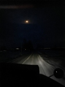 They call it morning but the roads are lit only by the moon for the milktruck.