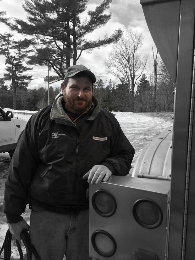 Dairy Farmer Steve Tozier of Tozier Farm in Fairfield, Maine works hard every day to help produce fresh, local, high quality milk and he sends it down the road on Karen's truck with pride.