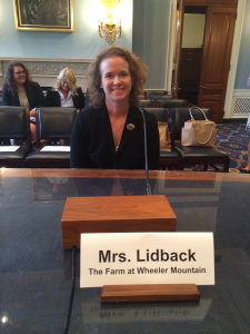 The unstoppable Joanna at the House Agriculture Sub-Committee's hearing on Biotechnology in July of 2014. Photo Courtesy of The Farm at Wheeler Mountain