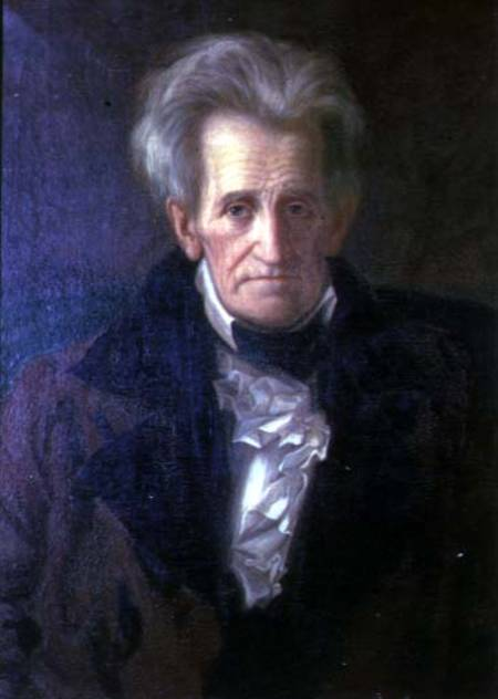 This portrait of a weathered and aged atrocious saint was completed shortly before Andrew Jackson's death in 1845.