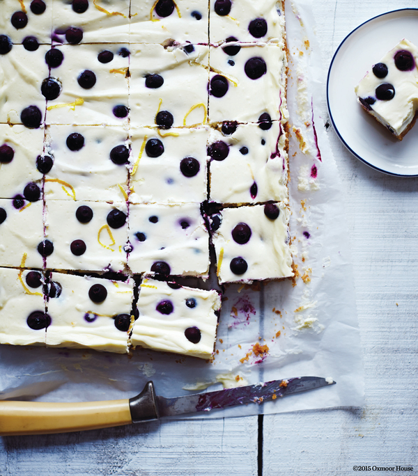 Blueberry Lemon Cheesecake Squares. Courtesy of The Cabot Creamery Cookbook © Oxmoor House 2015